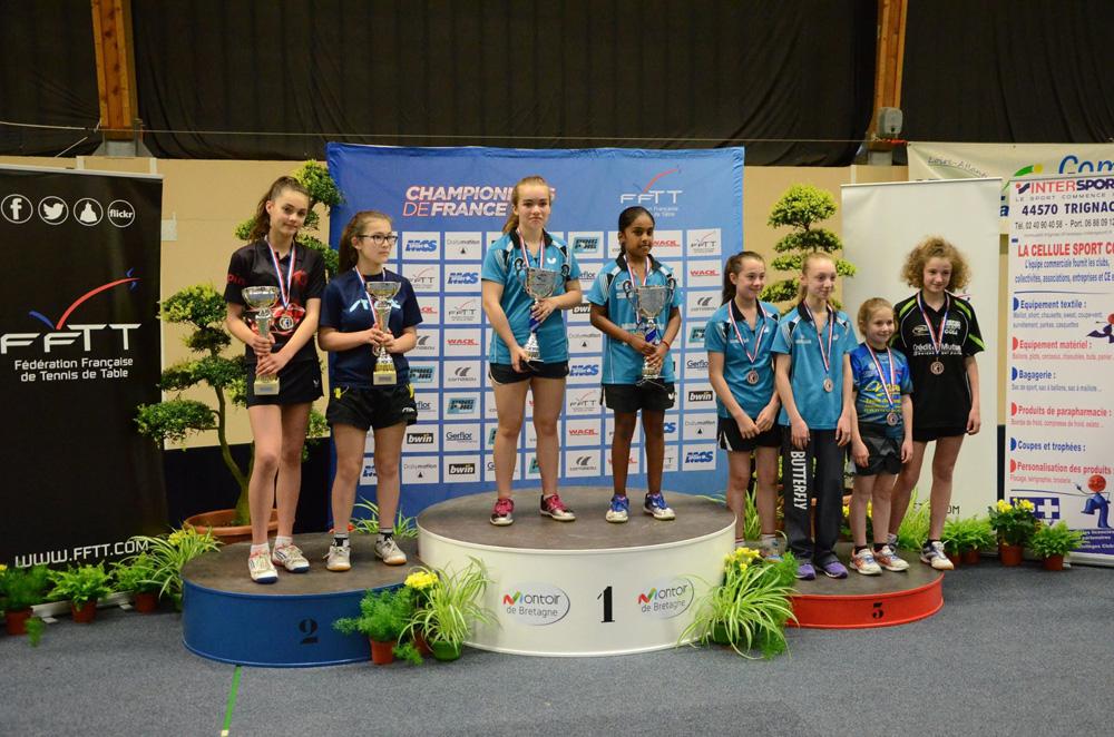Doubles Minimes Filles - Championnats de France 2016