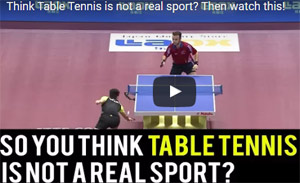 Table tennis is a sport