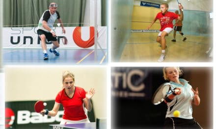 Racketlon : tennis de table, badminton, squash, tennis