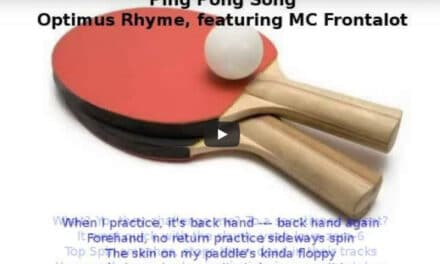 Ping Pong Rap avec Optimus Rhyme – Ping Pong Song (with Lyrics)