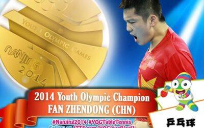 Fan Zhendong et Liu Gaoyang, Champions Olympiques Jeune 2014