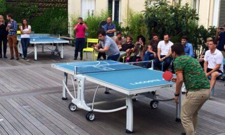 Des tables de Ping Pong Lacoste