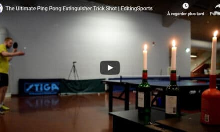 The Ultimate Ping Pong Extinguisher Trick Shot | EditingSports