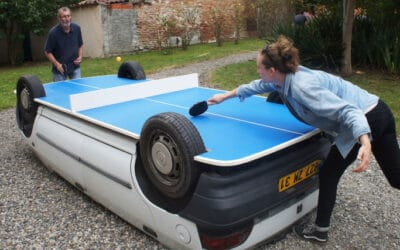 Transforme ta voiture en table de Ping Pong