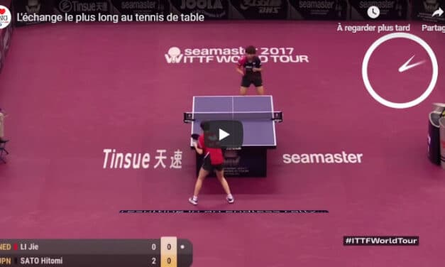 Les plus longs marathons au tennis de table