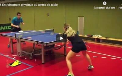 Entraînement physique au tennis de table