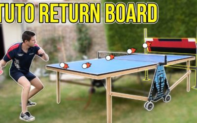 Le Return Board, pour jouer seul au tennis de table