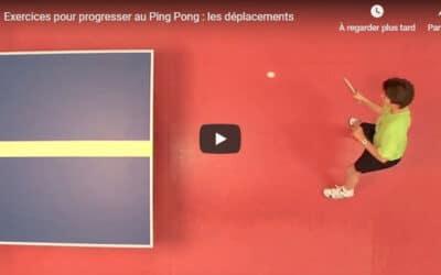 Progresser au Ping Pong – les déplacements latéraux (niveau débutant)