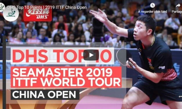 Le meilleur de l'Open de Chine 2019 de tennis de table