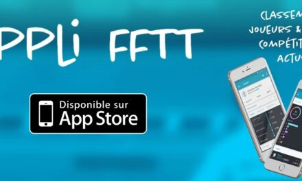 Application FFTT désormais disponible sur l'App Store