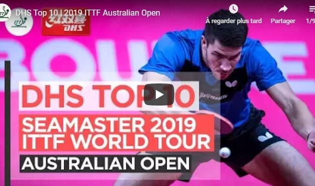 Le meilleur de l'Open d'Australie 2019 de tennis de table