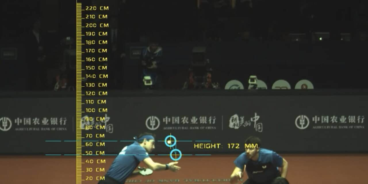 L'arbitrage video arrive au tennis de table