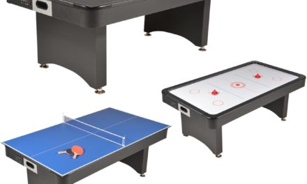 Table convertible : Hockey, Ping-Pong et table à manger