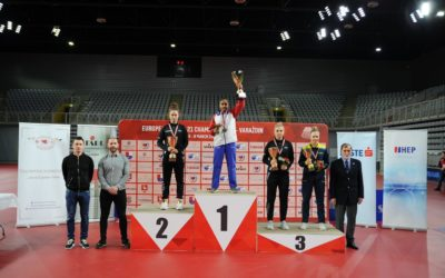 Prithika PAVADE championne d'Europe simple dames -21 ans