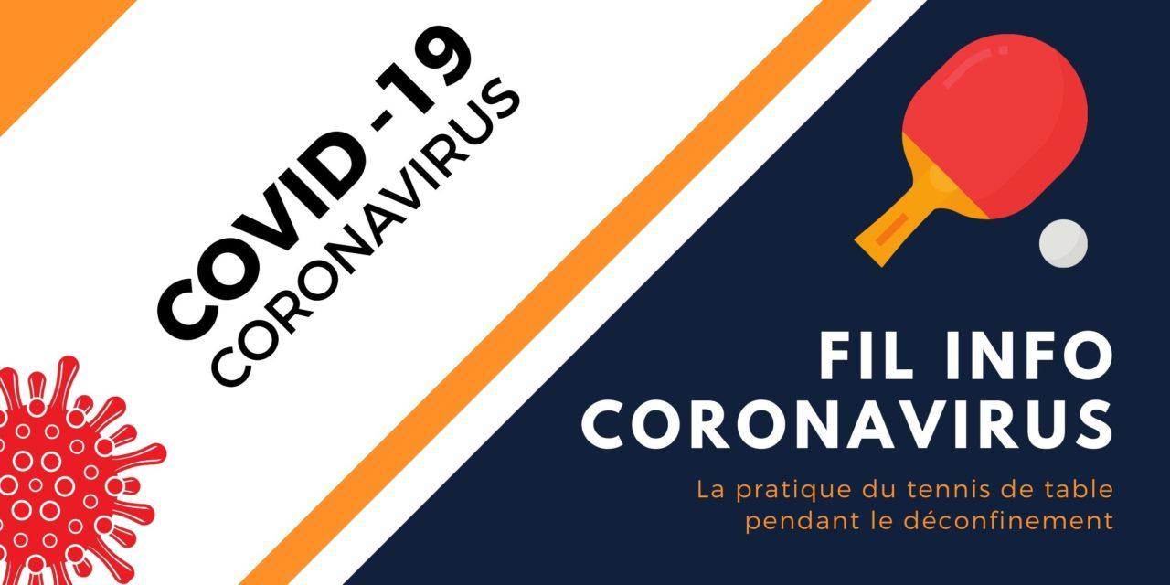 Protocole FFTT de reprise du tennis de table   Coranovirus COVID