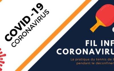 COVID-19 : Fil d'actualité tennis de table