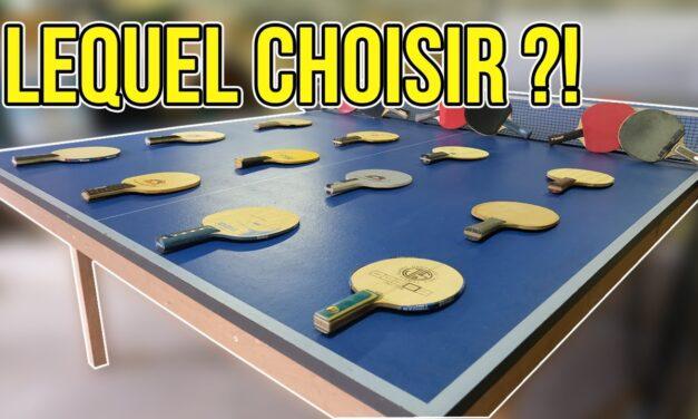 Quel bois de tennis de table choisir ?